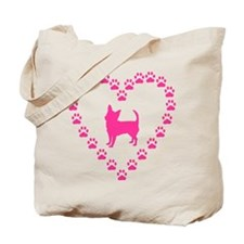 Hot Pink Chihuahua Tote Bag