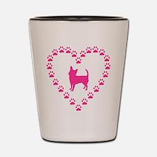 Hot Pink Chihuahua Shot Glass