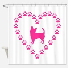 Hot Pink Chihuahua Shower Curtain