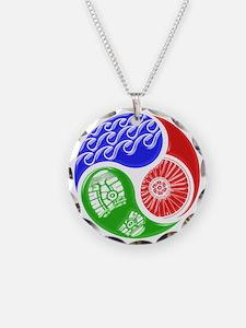 Triathlon TRI Swim Bike Run 3D Necklace