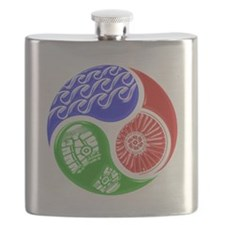 Triathlon TRI Swim Bike Run 3D Flask