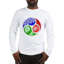 Triathlon TRI Swim Bike Run 3D Long Sleeve T-Shirt