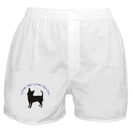 Love Me Love My Chi Boxer Shorts