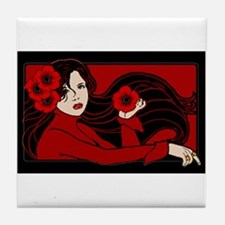 The Poppy Maiden Tile Coaster