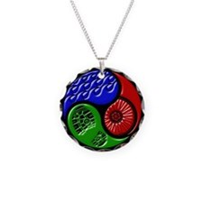 Triathlon TRI Swim Bike Run 3D Necklace