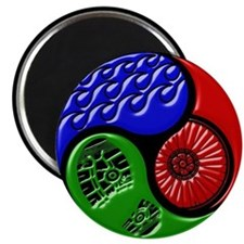 Triathlon TRI Swim Bike Run 3D Magnets