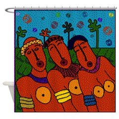 African Folk Art Shower Curtain