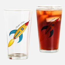 Rocket Man Rocket Ship Drinking Glass