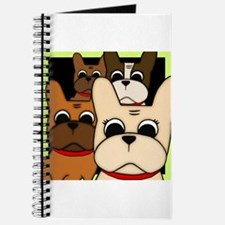 Funny French bulldog pied Journal