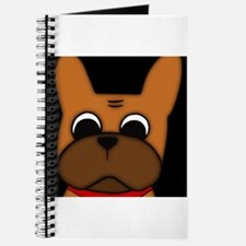 Cute French bulldog pied Journal