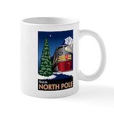 North Pole Vintage Travel Style Mug