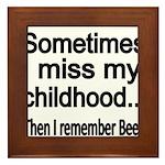 Sometimes I miss my Childhood Framed Tile