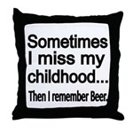 Sometimes I miss my Childhood Throw Pillow