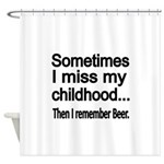 Sometimes I miss my Childhood Shower Curtain
