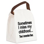 Sometimes I miss my Childhood Canvas Lunch Bag