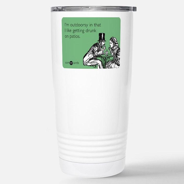 Drunk On Patios Travel Mug