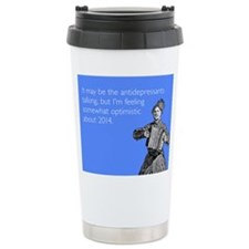 Somewhat Optimistic Stainless Steel Travel Mug
