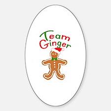 Team Ginger Gingerbread Sticker (Oval)