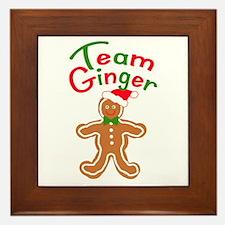 Team Ginger Gingerbread Framed Tile