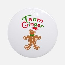 Team Ginger Gingerbread Ornament (Round)