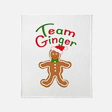 Team Ginger Gingerbread Throw Blanket