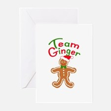 Team Ginger Gingerbread Greeting Cards (Pk of 10)