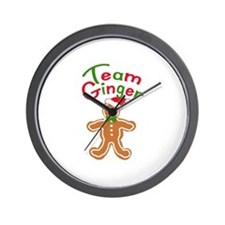 Team Ginger Gingerbread Wall Clock