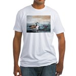 Fitted T-Shirt - goose fine art painting