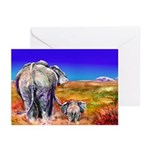 Just You and Me Elephant Greeting Cards (Pk of 20)