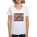 Women's V-Neck T-Shirt - Tulip/Crocus