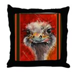 Throw Pillow with sense of humor - ostrich