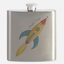 Rocket Man Rocket Ship Flask