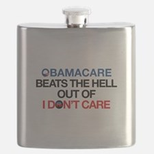 Obamacare Beats the Hell Out of I Don't Care Flask