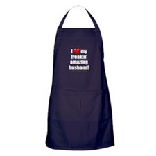 """I Love My Freakin' Amazing Husband"" Apron (dark)"