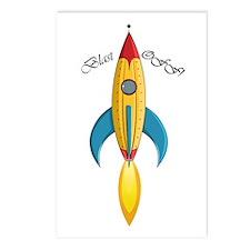Blast Off! Rocket Ship Postcards (Package of 8)