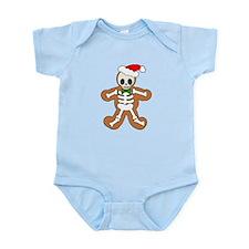 Cute Gingerbread Skeleton Man Infant Bodysuit