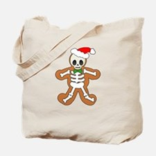 Cute Gingerbread Skeleton Man Tote Bag