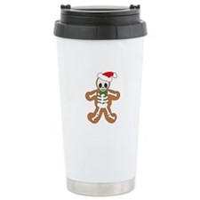 Cute Gingerbread Skeleton Man Travel Mug