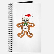 Cute Gingerbread Skeleton Man Journal