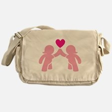 Eve and Eve ladies in Love Messenger Bag