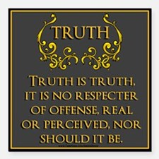 "TRUTH Square Car Magnet 3"" x 3"""