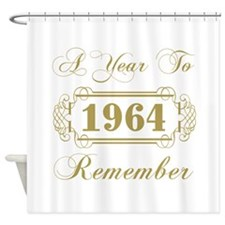 1964 A Year To Remember Shower Curtain