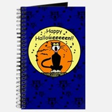 Halloween Black Cat Journal