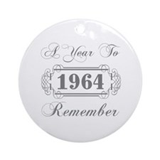 1964 A Year To Remember Ornament (Round)