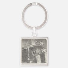 African American Soldier Keychains