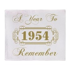 1954 A Year To Remember Throw Blanket