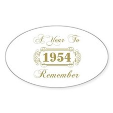 1954 A Year To Remember Decal