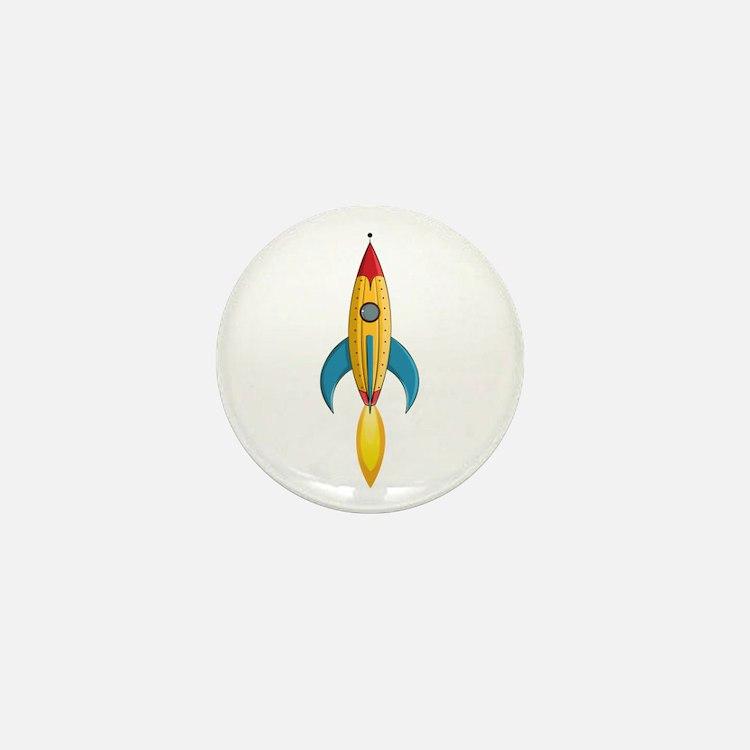 Rocket Ship Mini Button (10 Pack)