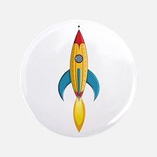 Rocket Ship 3.5 Inch Button