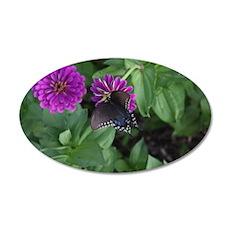 Garden Butterfly 35x21 Oval Wall Decal
